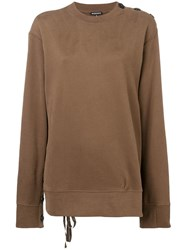 Ann Demeulemeester Oversized Sweatshirt Brown