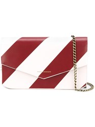 Tammy And Benjamin Striped Cross Body Bag Red