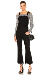 Rag And Bone Jean Crop Flare Overall In Black