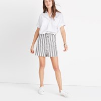 Madewell Striped Lace Up Skirt Omote Stripe Bright Ivor