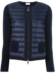 Moncler Knitted Panel Jacket Black