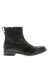 Blackstone Leather Zip Boots Truffle