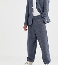 Noak Suit Trousers In Blue Texture Fabric