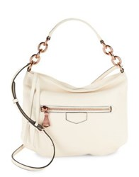 Aimee Kestenberg Top Zip Leather Shoulder Bag Vanilla
