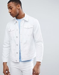 Bershka Denim Jacket In White