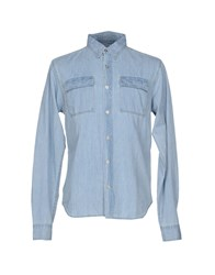 Bolongaro Trevor Denim Shirts Blue