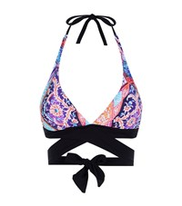 Seafolly Kashmir Wrap Around Bikini Top Female Multi