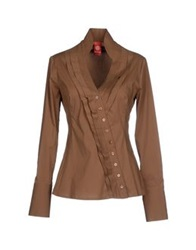 Michelle Windheuser Shirts Camel
