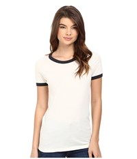 Obey Sold Out Ringer Tee Cr Me Black Women's T Shirt