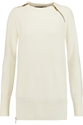 Love Moschino Zip Embellished Wool Blend Sweater