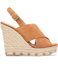 Kg By Kurt Geiger March Suede Wedges Tan