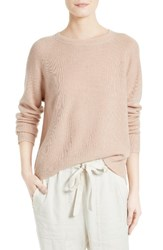 Vince Women's Boxy Cashmere And Linen Pullover Peach
