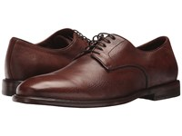 Frye Fisher Oxford Cognac Deer Skin Leather Lace Up Wing Tip Shoes Brown