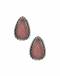 Lagos Maya Rhodocrosite Doublet Half Hoop Earrings Pink