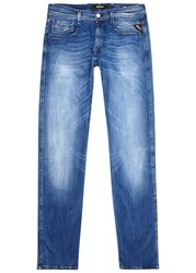 Replay Anbass Hyperflex Blue Slim Leg Jeans