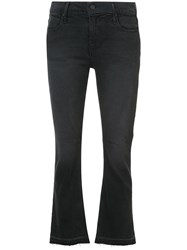 Rta Cropped Flared Jeans Cotton Polyester Spandex Elastane Black