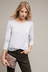 Anthropologie Agency Twist Front Top Sky