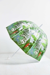 Urban Outfitters Printed Bubble Umbrella Green
