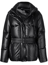 Bacon Belted Puffer Jacket Black