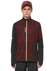 Reebok Stretch Running Jacket Black Red