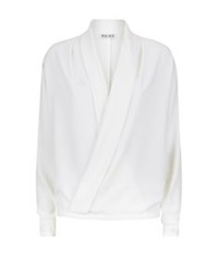 Reiss Ives Wrap Over Blouse White