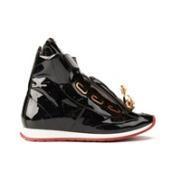 Vivienne Westwood Women's Tongue Orb Hi Top Trainers Black Patent