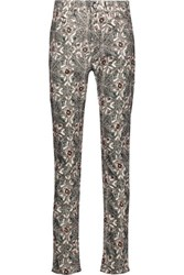 Isabel Marant Mesa Printed Cotton Blend Corduroy Skinny Pants Multi