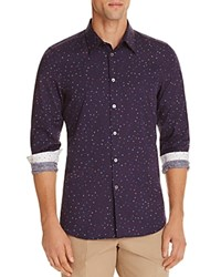 Paul Smith Ps Polka Dot Slim Fit Button Down Shirt Navy