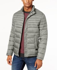 Kenneth Cole Quilted Packable Puffer Coat Smoke Black