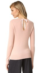 Theory Salomina Cashmere Sweater Pale Rose