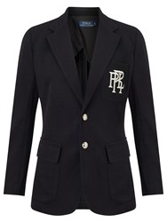 Ralph Lauren Polo Knit Cotton Blazer Polo Black