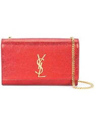 Saint Laurent Monogram Chain Wallet Red