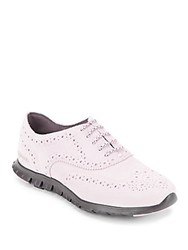 Cole Haan Wingtip Toe Leather Oxfords Pink