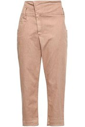Brunello Cucinelli Woman High Rise Tapered Jeans Antique Rose