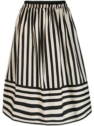 Twin Set Striped A Line Skirt Neutrals