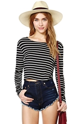 Nasty Gal Cross The Line Crop Tee