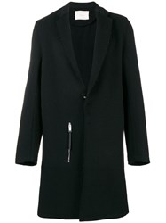Alyx Leather Trim Coat Black