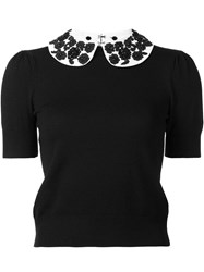 Alice Olivia Round Collar Jumper Black