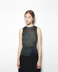 Alexander Wang Graphic Stripe Tank Black
