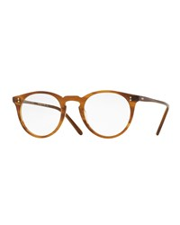 O'malley Round Optical Frames Brown Oliver Peoples