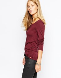 Esprit Long Sleeve Jersey Top Bordeaux