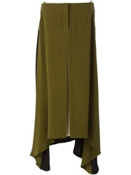 Petar Petrov Long Contrast Skirt Green