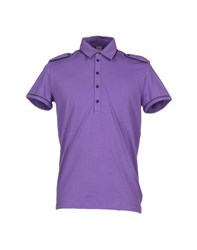 Bikkembergs Topwear Polo Shirts Men Purple