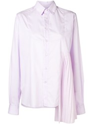 Each X Other Asymmetric Design Shirt Pink And Purple