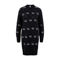 Kenzo Eye Sweater Dress Black