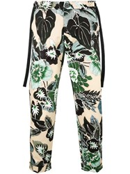 Christian Pellizzari Floral Cropped Trousers Green