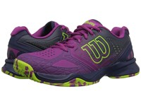 Wilson Kaos Comp Pink Navy Green Women's Tennis Shoes Purple