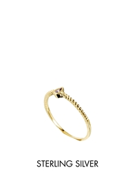 Asos Gold Plated Sterling Silver February Birthstone Ring Purple