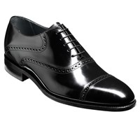 Barker Wilton Goodyear Welt Leather Oxford Shoes Black