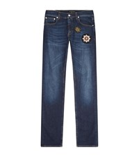 Alexander Mcqueen Badge Embroidered Jeans Male
